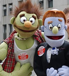 """First Day of Marriage Equality in New York: """"Rod and Nicky"""" from Avenue Q"""