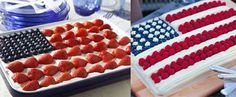 Mary, my daughter-in-law, made a flag cake like this last year. Love these.