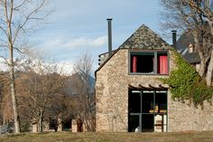 Renovated farm compound in the Spanish Pyrenees