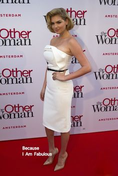 Fabulously Spotted: Kate Upton Wearing Christian Siriano - 'The Other Woman' Amsterdam Premiere - http://www.becauseiamfabulous.com/2014/04/kate-upton-wearing-christian-siriano-the-other-woman-amsterdam-premiere/
