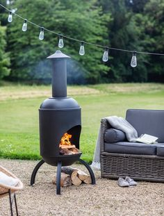 Enjoy the outdoors, even once the sun has set with the Sarsden Chiminea. Crafted in Powder Coated Steel, the deep matt finish and shape echoes traditional Spanish chimeneas. Fire Pit Bowl, Fire Bowls, Fire Pits, Fire Pit Chimney, Chimnea, Smoke Out, Patio Heater, Stove Heater, Patio Dining