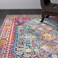 Azemmour Blue Pink Area Rug Front Enterance In 2019