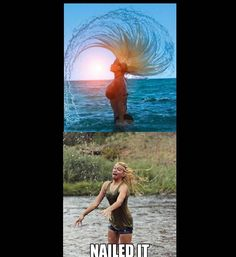 Funny photos, nailed it, nailed it hair flip