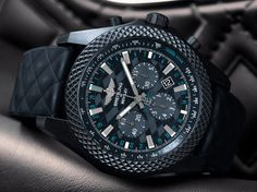 "The Breitling Bentley GT ""Dark Sapphire"" Edition releases on the heels of the 2018 Bentley Continental GT unveiled at the Frankfurt Motor Show earlier this year."