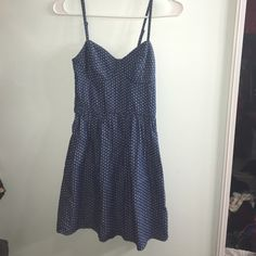 Polka dot dress This is an xs dress with a waist band and adjustable straps. You can wear a belt with it too. I would model it on my mannequin but it wouldn't fit ☹ feel free to make an offer! Good condition & no signs of wear Love FIRE Dresses Mini