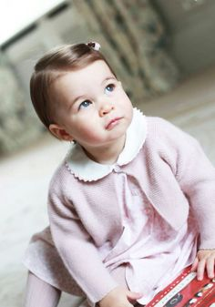 Princess Charlotte Elizabeth Diana of Cambridge on the eve of her first birthday