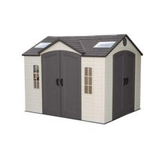 lifetime 10 x 8 ft outdoor storage shed with double doors front and side - Garden Sheds 8 X 12