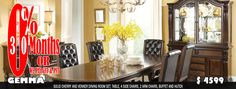 Buy a quality, solid cherry and venner. Dining room set. Beautifully finished and upholstered. The china… http://prillo.ca/product/gemma/