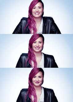 Demi Lovato pink hair sidecut    CUTEEEEEEEEEEEEEEEEEEEEEE