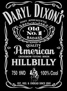 DARYL DIXON, Walking Dead, Whiskey, I want, I need, Tshirt