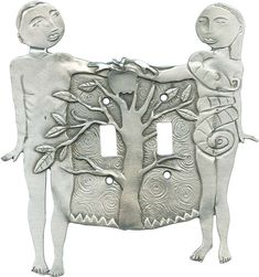 Adam and Eve Light Switch Plates, Outlet Covers, Wallplates