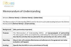 Memorandum of understanding template for partnership memo memorandum of understanding template spiritdancerdesigns Gallery