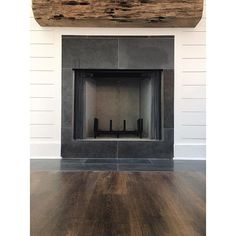 we love our sinker cypress live edge mantel white herringbone insert and honed dark grey basalt stone surround havenu0027t fired up the fireplace yet but