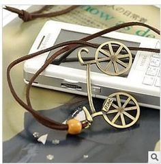 Vintage Cycling Necklace - FREE SHIPPING