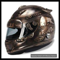 Sebastian Vettel Monaco 2014 Helmet