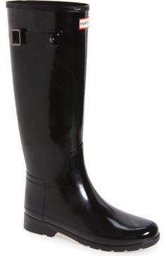 Hunter 'Original Refined' High Gloss Rain Boot (Women) available at #Nordstrom
