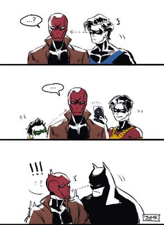 One Shots [Dc comics] Batgirl, Nightwing, Jason Todd Robin, Red Hood Jason Todd, Batman Y Superman, Batman Robin, Batman Comic Art, Wayne Family, Bat Family