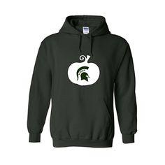 Buy Now.  MSU Spartan Pumpkin, Halloween, Fall Hoodie,  The original MSU Spartans Pumpkin Hooded Sweatshirt.  #halloween #fall #msu #spartans #white #pumpkin #autumn #hoodie #fashion #clothes #clothing #outfit