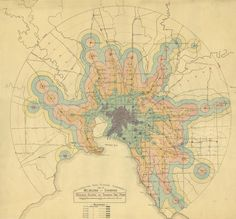 - mapsdesign:  Isochrone map of Melbourne trains and trams...