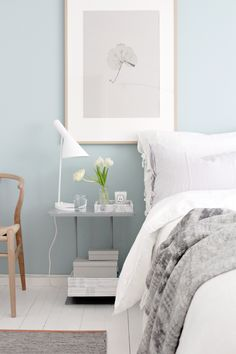 scandinavian bedroom design style is peaceful and simple, making it perfect for the bedroom. Here are rooms that accomplish you how to complete this Bedroom Styles, Bedroom Colors, Bedroom Decor, Bedroom Ideas, Pastel Bedroom, Light Bedroom, White Bedroom, Bedroom Inspiration, Light Blue Bedrooms