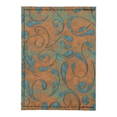 Copper Patina pattern with green vines and metallic distressed look.