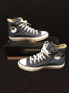 14a8716beedd Navy Blue High Top Converse  fashion  clothing  shoes  accessories   mensshoes
