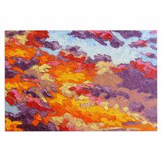 """Jeff Ferst """"Evening Multicolor Sky"""" Sunset Sky Decorative Door Mat"""