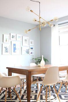 Mid Century Modern Dining Room U0026 My New Light Fixture