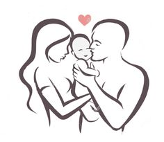 Illustration about Happy family stylized vector symbol, young parents and child. Illustration of romantic, line, sketch - 76612325 Pencil Art Drawings, Art Drawings Sketches, Easy Drawings, Father And Baby, Mother And Child, Mother And Baby Tattoo, Tattoos Familie, String Art, Kids And Parenting