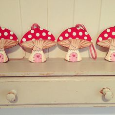 Wooden toadstool wooden fairy house hand painted от LittlePapa, £10.00