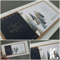 Weihnachtskarte mit Papier von Alexandra Renke
