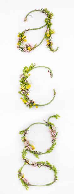 floral monograms for your decor