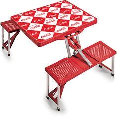 Coca Cola Red Checker Coca Cola Picnic Table ($100) ❤ Liked On