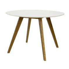 ACHICA   Bess 110cm Table, White/Oak