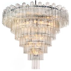 Monumental Venini Eight-Tiered Chandelier | From a unique collection of antique and modern chandeliers and pendants  at http://www.1stdibs.com/furniture/lighting/chandeliers-pendant-lights/