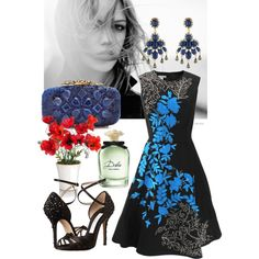 A fashion look from December 2014 featuring Oscar de la Renta dresses, Oscar de la Renta shoes and Oscar de la Renta clutches. Browse and shop related looks.