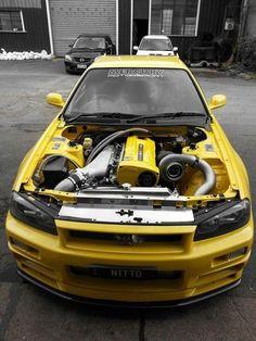 Nissan Skyline R34 GTR... The classic Japanese Monster