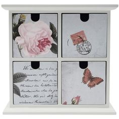 M&Co Vintage Rose Wooden Drawer Cabinet ($23) ❤ liked on Polyvore featuring home, furniture, storage & shelves, cabinets, grey, wood drawer cabinet, jewelry cabinet, drawer storage cabinet, wood jewelry cabinet and grey cabinets