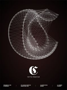 Galaxy Type posters by Romain Roger. This is of Fette Fraktur.