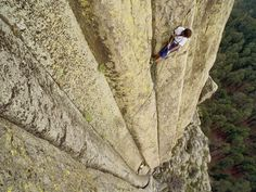 Devil's Tower in Wyoming is frequently visited by climbers. Hundreds of parallel cracks make it one of the finest traditional crack climbing areas in North America.