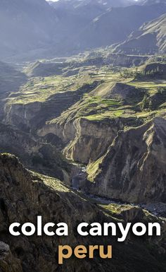 The incredible Colca Canyon in Peru. Full of nature and history, perhaps you should consider including it on a trip to the country.