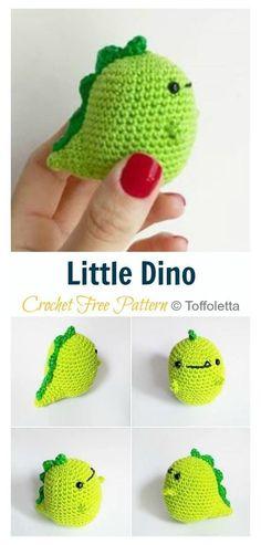 Kawaii Crochet, Cute Crochet, Crochet Crafts, Crotchet, Crochet Toys, Crochet Dinosaur Patterns, Crochet Amigurumi Free Patterns, Crochet Turtle Pattern Free, Easy Knitting Projects