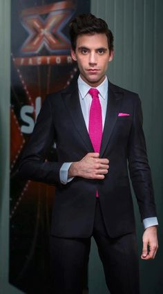 """""""Pop star Mika chose Trussardi for his guest appearance at the semi-final of the Italian version of X Factor. He looked elegant and sophisticated in an impeccable black tuxedo."""" XFactor - Milan - November 29th 2012"""