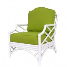 Chippendale Lounge Chair - Rattan - Color Options | David Francis
