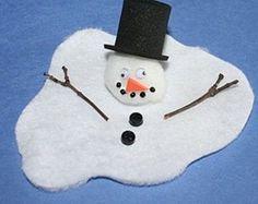 muñeco de nieve derretido manualidades para niños
