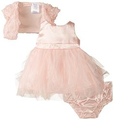 Nannette Baby Girls' 3 Piece Chiffon Mesh Shrug Dress and...…