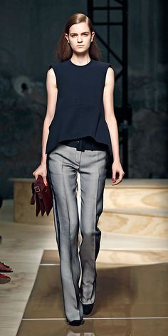 Classic Chris Davila: clean lines, minimal to no jewelry, neutral colors....sigh...http://www.celine.com/en/collection/summer/ready-to-wear/look-book/look/27