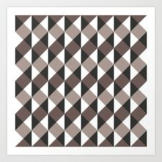 Pattern Gray Art Print by Sonia Marazia - $15.60