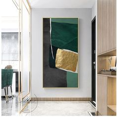 Abstract modern green gold leaf lines art canvas frames for living room bedroom poster and wall prints home decor Canvas Frame, Canvas Art, Wall Prints, Canvas Prints, Bedroom Posters, Abstract Wall Art, Living Room Bedroom, Gold Leaf, Green And Gold