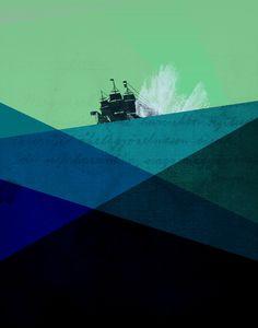 Rough Seas - Art Print by Amelia Senville/Society6